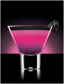 Foxy Night Blackberry Martini