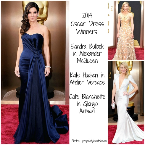 Oscar Dress Winners